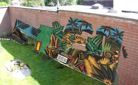 Me cago el tiempo me cago gabrielita en la belgica for Como pintar un mural en la pared