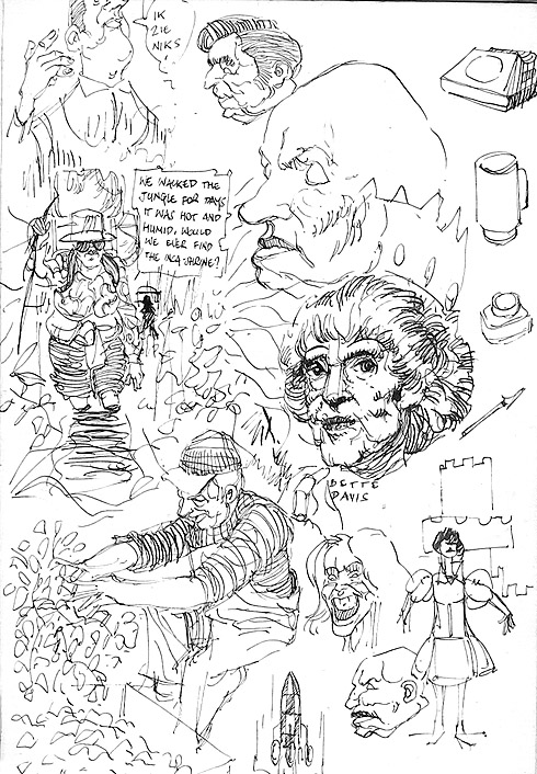 page of my sketchbook - circa 1992
