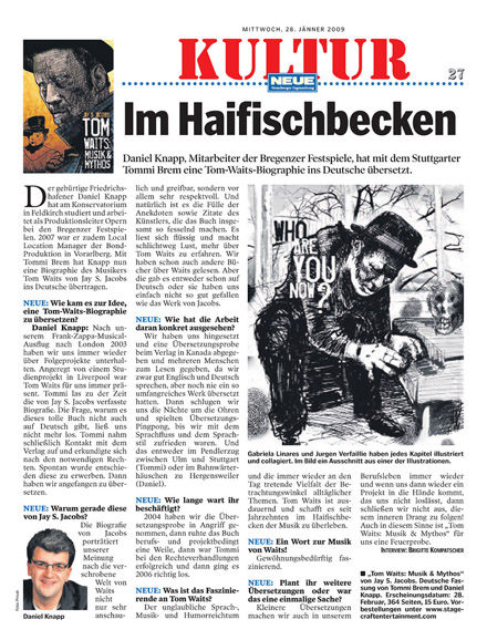 Tom Waits: Musik & Mythos Press Article