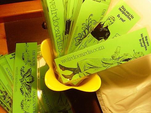 weirdo cards bookmarks